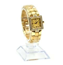 Vintage Concord Diamond Case 18k Yellow Gold Ladies Wristwatch