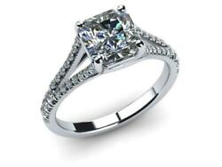 Marriage Genuine D Vs2 1 Ct 18 K White Gold Cushion Cut Diamond Ring Woman