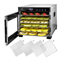 Chefwave 6 Tray Food Dehydrator With Stainless Steel Racks Temp + Time Control