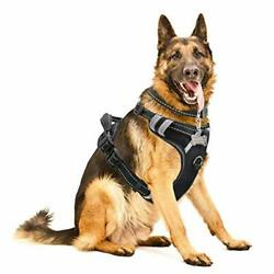 WINSEE Dog Harness No-Pull Pet Harness with Dog Collar FrontBack Leash Clips Re