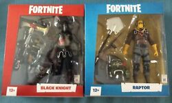 Epic Games Fortnite Action Figure Lot 2 Black Knight And Raptor Both Mib New