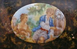 Phenomenally Fine Museum Quality Snuff Box Hand Painted Guilloche Enamel Antique