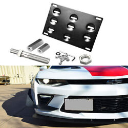 Front Bumper Tow Hook License Plate Mounting Bracket Holder For Camaro 10-16 5th