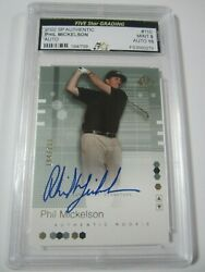2002 Sp Authentic 110 Phil Mickelson Signed Autograph Pga Card 194/799 Mint 9
