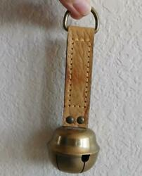 English Clydesdale Horse Brass Bell - Ready To Hang On Tack
