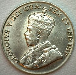 1929 Canada UNC Nickel 5c Canadian Coin KM #29 Uncirculated Five Cents K30
