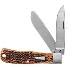 Case Xx Knives Brown Bone Bullnose Trapper Tony Bose Limited Knife 10367 Usa