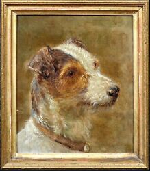19th Century Portrait Of A Terrier