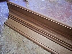 Solid African Mahogany 42 Inch Hand Built Wall Shelf, Mantel, Stain Grade Wood