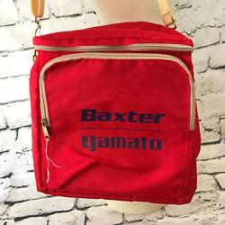 Vintage Baxter Yomato Thermal Cooler Bag Red Lunch Pack Insulated Outdoor Hiking