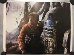 Rare One Of A Kind Authentic Star Wars Series Luke Skywalker / R2d2 Poster Print