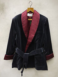 Navy Smoking Jacket By Tails And The Unexpected Andndash Cotton Velvet And Silk
