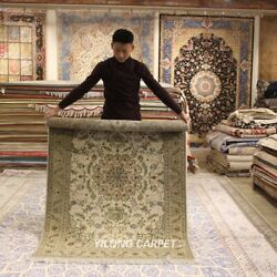 Clearance Yilong 4and039x6and039 Classic Handmade Wool Rug Porch Hand-knotted Carpet 2128