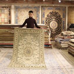 Clearance Yilong 4and039x6and039 Parlor Handmade Wool Rug Handknotted Area Carpets 2083