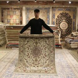 Clearance Yilong 4and039x6and039 Old World Design Handmade Wool Rug Woolen Carpets 2065