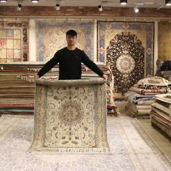 Clearance Yilong 4and039x6 Classic Design Handmade Wool Rug Hand-knotted Carpet 2095
