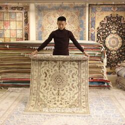 Clearance Yilong 4and039x6and039 Handmade Wool Area Rug Thick Parlor Woolen Carpets 2121