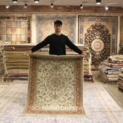 Clearance Yilong 4and039x6and039 Hand Craft Wool Rug Office Medallion Woollen Carpet 2082