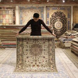 Clearance Yilong 4and039x6and039 Handmade Wool Rug Classic Medallion Woolen Carpets 2046