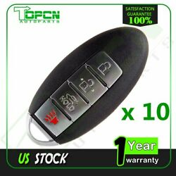 10x Uncut for 2012 Nissan Replacement Keyless Entry Remote Ignition Car Key Fob