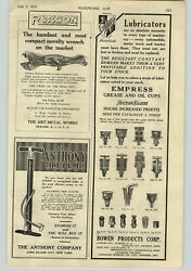1919 Paper Ad Ronson Wing Nut Wrenches Rock Island Car Auto Vise Vises Ill