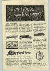 1919 Paper Ad Article Structo Auto Builder Toy Kingsbury Destroyer Ship