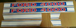 Ford 4000 Tractor Hood Decal Kit 1968 And Up