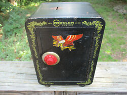 Vintage Mosler Junior Toy Safe With Working Combination 9 X 7 X 6 Metal