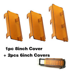 20 Inch Amber Snap On Lens Cover 6 + 8 For Offroad Led Light Bar Atv Suv 4x4
