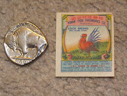 Lot Of 5 Different Vintage Cock Brand Firecracker Penny Pack Labels And Wrappers