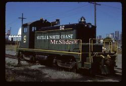 Original Slide Seattle And North Coast Ex Milw Sw1 52 In 1986 At Seattle Wa