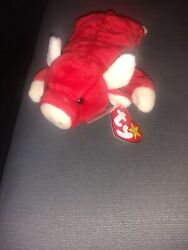 Ty Beanie Babies Snort The Bull 1995 Date Of Birth May 15,1995.red Bull