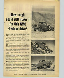 1957 Paper Ad 3 Pg Gmc Truck 4-wheel Drive Massey-harris Ford Tractor Plow