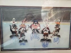 Colorado Avalanche Stanley Cup Winners Original Cel Signed By Team Members