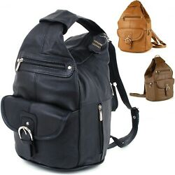Womens Leather Backpack Purse Sling Shoulder Bag Handbag 3 in 1 Convertible Bag $34.99