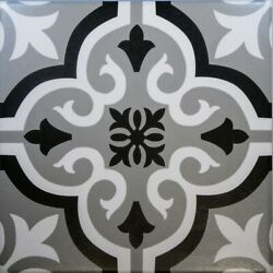 Braga Grey And Black Porcelain Wall And Floor Tiles 20 X 20 Cm / Sqm