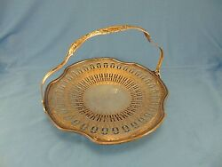Silver Plate Round Tray With Handle Rh Macy And Co. Kenilworth Style Nickel Silver