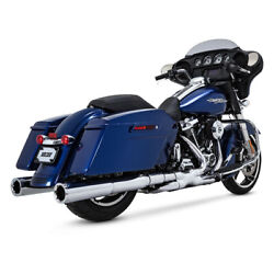 Vance And Hines Power Duals Elbow Chrome For Harley Davidson Touring Bj.17-19