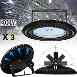 3X 200W UFO LED High Bay Light Warehouse Garage Supermarket Mall Workshop Lamp
