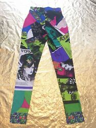 GIANNI VERSACE COUTURE iconic Vogue printed high waisted leggings Pop Art