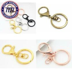 5PcsLot 30Mm Key Ring Long 70Mm Popular Classic 8 Colors Plated Lobster Clasp K
