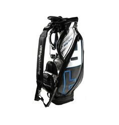 Design Tuning TPU Caddie Golf Clubs Bag Black-Blue 9In 6Way Sporting Goods