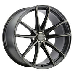 22'' x9 XO Luxury Madrid Black 5x4.5 25 ET 2290MRD255114B76 Single Rim
