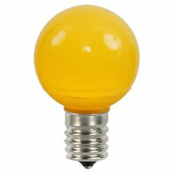 Vickerman Pack of 25 Yellow Ceramic LED G50 Christmas Replacement Bulbs