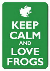 KEEP CALM and love frogs funny fridge magnet_649