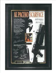 Scarface Autographed Movie Poster With Colt Ar-15 Prop