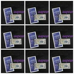 10 Bundle 500 Pcs 17cmx7.5cm Currency Sleeves Holder Banknote Storage Pouch 5.5