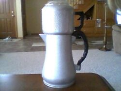 Vintage Guardian Service Brand Hammered Aluminum 8 Cup Drip Coffee Pot -used