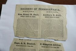 1877-1880 Political Broadside, Probably One Of A Kind And Homeopathic O'keefe's Br