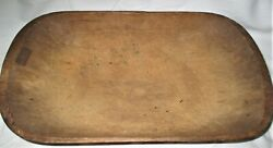 Antique Primitive Usa Carved Wood Country Kitchen Bread Dough Table Trench Bowl